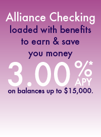 3.00%APY on balances up to $15,000
