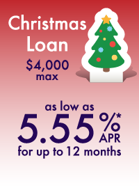 Christmas Loan as low as 5.55% APR for up to 12 months