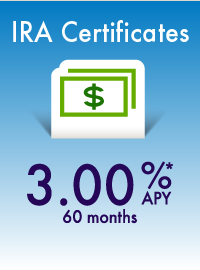 IRA Certificates 3.00% APY 60 months